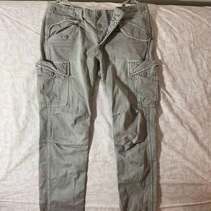 Greenish-grey Adjustable Cargo Pants